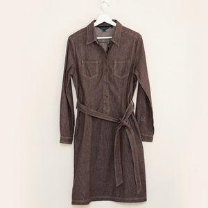 Boden Brown Denim Long Sleeve Dress 12R